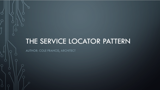 TheServiceLocatorPattern